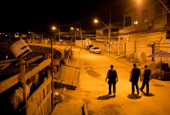 Rio: Three Police men walking