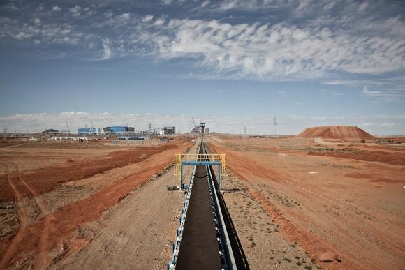 Mining in Gobi Desert