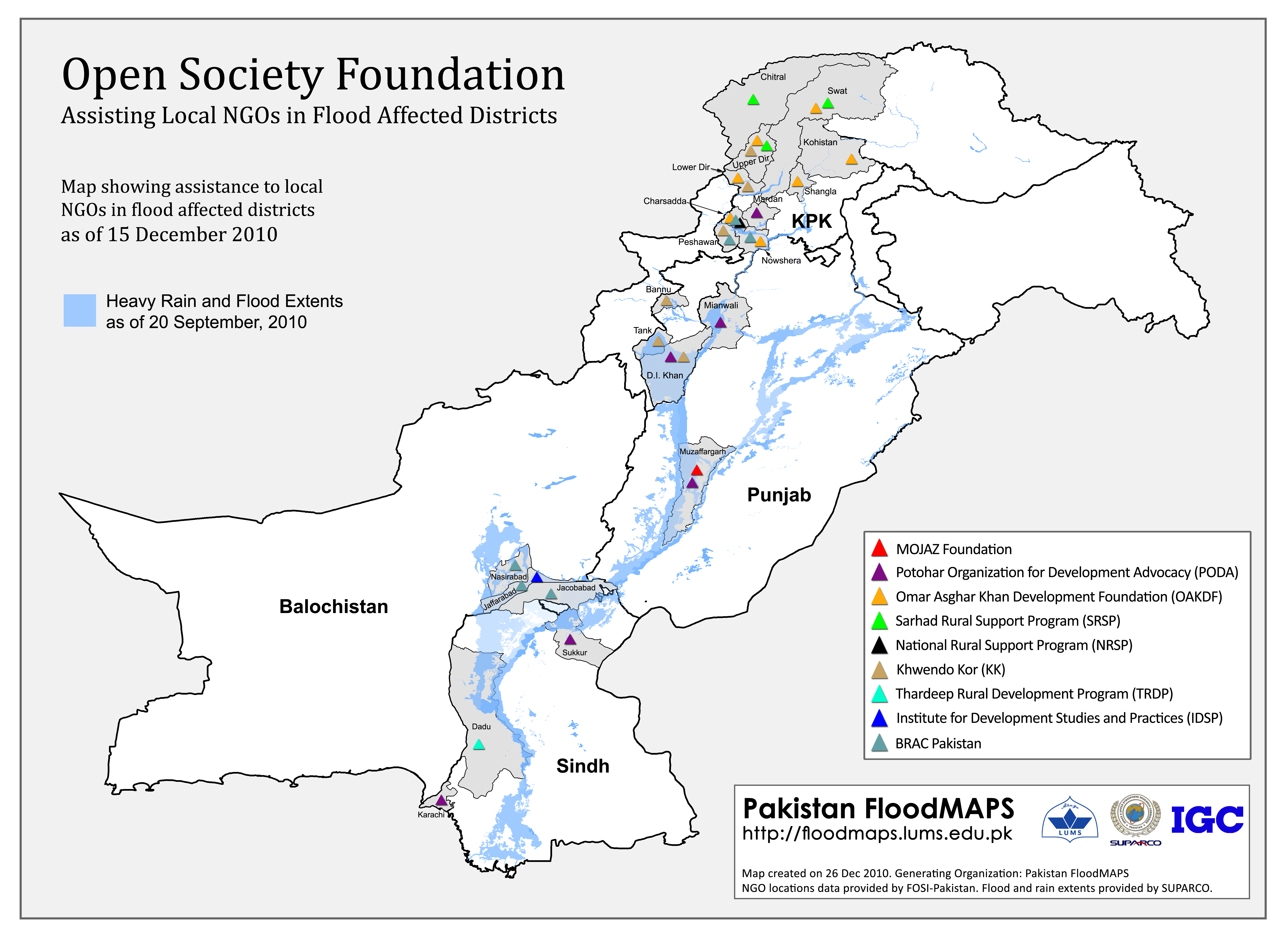 Open Society Foundation Map pakistan