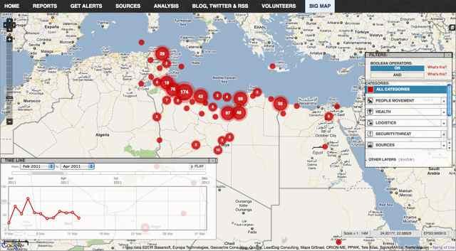 Lybia Crisis Map - Ushahidi